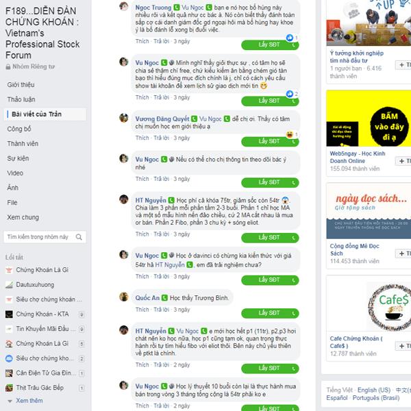 Bình luận của người học chứng khoán về Nguyễn Việt Hùng Davinci Academy lừa đảo khách hàng
