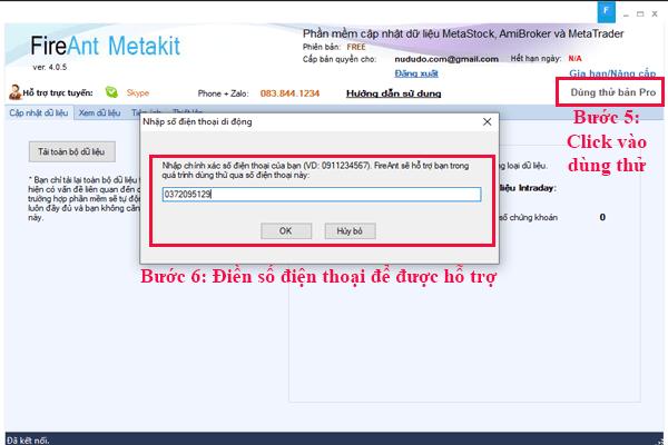 Đăng ký dùng thử bản pro của metakit