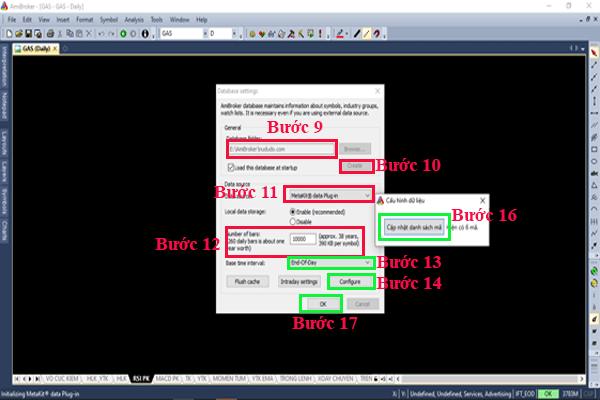 Các bước add database dữ liệu chứng khoán cho Amibroker