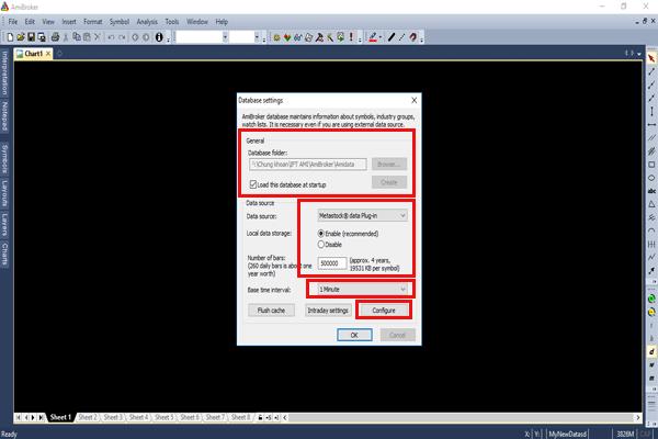 Create database realtime cho Amibroker Vietstock Updater