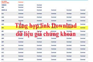 Tổng hợp link download dữ liệu giá chứng khoán