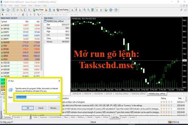 Cách thiết lập cập nhật dữ liệu chứng khoán cho MT4 tự động