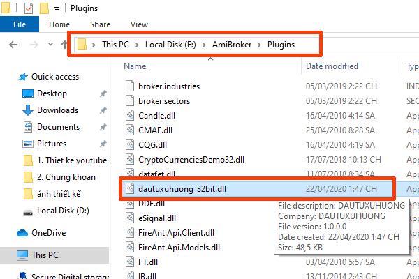 Sử dụng plugin cũ quá sẽ làm lỗi Amibroker không cập nhật dữ liệu