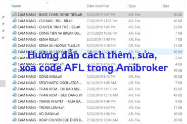 Huong dan cach them sua xoa code AFL trong Amibroker