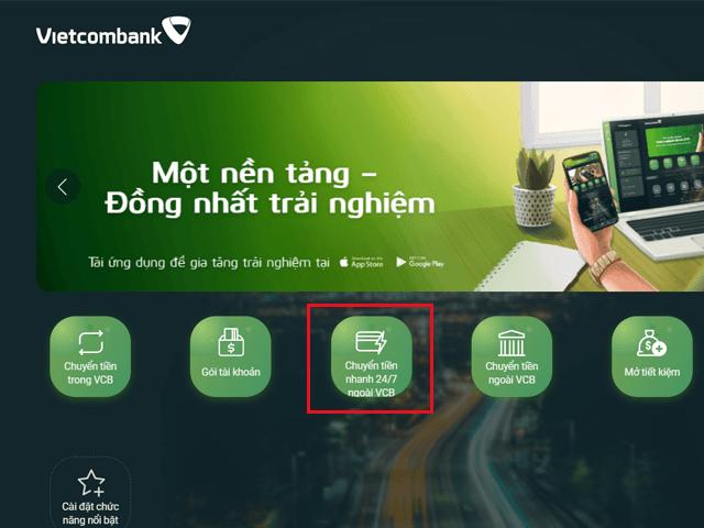 Cách chuyển tiền vào tài khoản chứng khoán VPS bằng Vietcombank