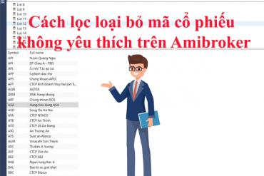 Hướng dẫn cách lọc loại bỏ trên Amibroker đơn giản nhất
