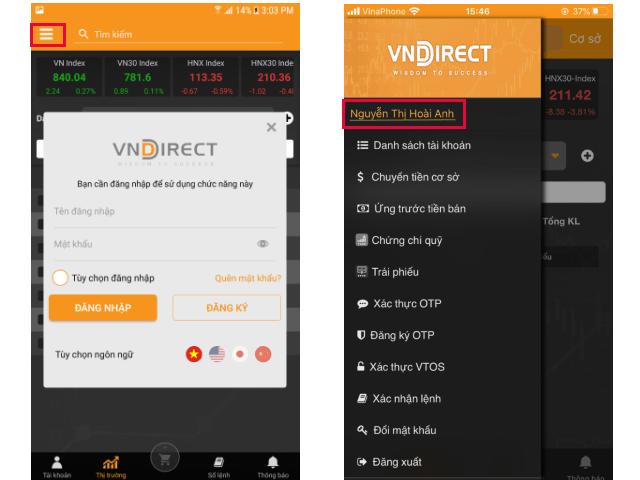 Hướng dẫn hoàn thiện hợp đồng VNDIRECT ONLINE trên App điện thoại