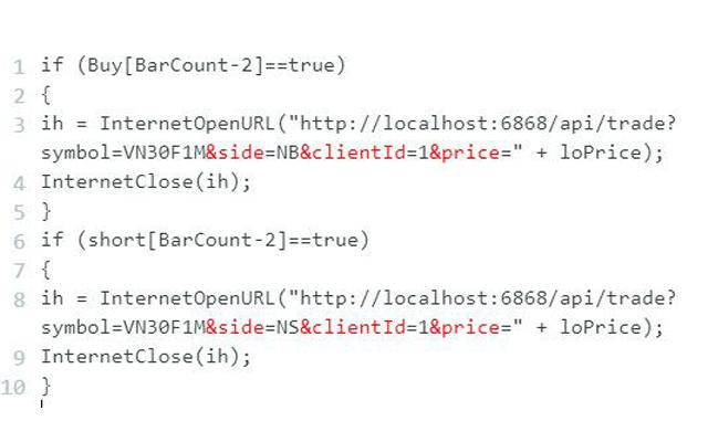 Thiết lập code Amibroker để thực hiện giao dịch tự động trên Entrade